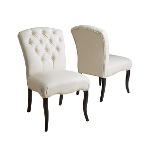 Christopher Knight Home Hallie Dining Chairs, 2-Pcs Set, Linen