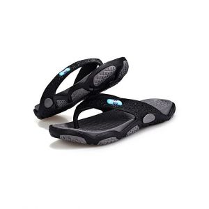 Men's Comfy Flat Flip Flops Sandals - Black/Grey